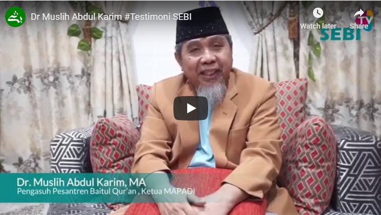 Ustadz Dr. Muslih Abdul Karim (Testimoni Prodi Hukum Ekonomi Syariah)