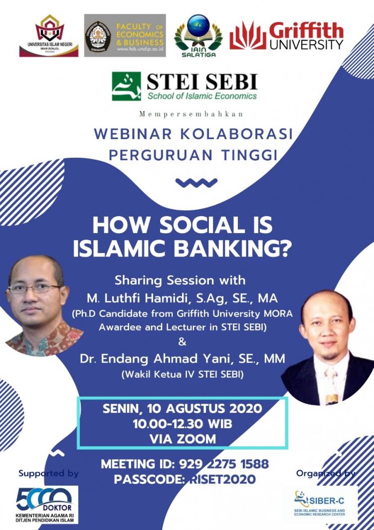 Webinar Kolaborasi Perguruan Tinggi: How Social Is Islamic Banking?